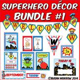 Superhero Theme Classroom Decor Bundle 1 - Instructional R