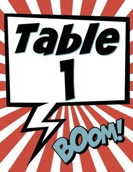 Superhero Classroom Decor Bundle 130 pages (pop art superhero, decorations)