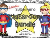 Superhero Classroom Decor Bundle {Editable}
