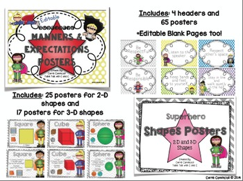 Superhero Classroom Decor Bundle {Editable}