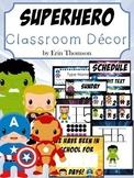 Superhero Classroom Decor Bundle ~ Editable {Classroom Themes}