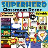 Superhero Theme Classroom Decor EDITABLE / Back to School / Meet the Teacher