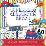 Superhero Classroom Decor Editable Powerpoint MEGA Bundle