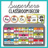 Superhero Classroom Theme Decor BUNDLE EDITABLE