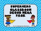 Superhero Classroom Decor Mega Pack