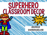 Superhero Classroom Decor:  Number  Line