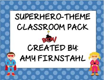 Superhero Classroom Decor Pack!