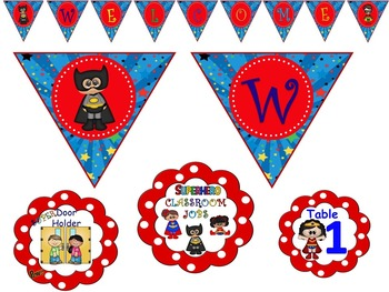 Superhero Classroom Decor Pack