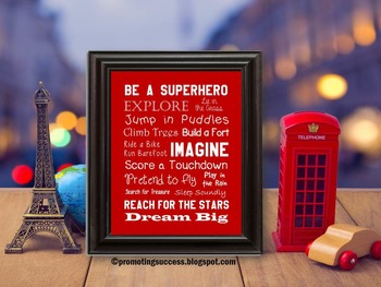 Superhero Theme Classroom Decor Poster, Superheroes Classroom Decoration