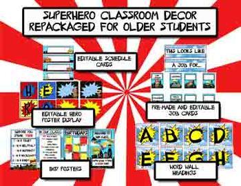 Superhero Classroom Decor - Repackaged for Older Kid Classrooms