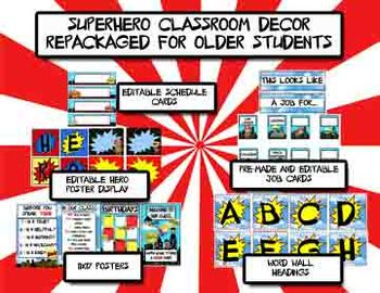 Superhero Classroom Decor - Repackaged for Older Kid Classrooms