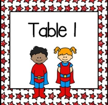 Superhero Classroom Decor Set