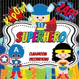 Superhero Classroom Decoration Mega Bundle-Editable!