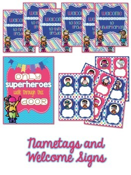 Superhero Classroom Decoration Set