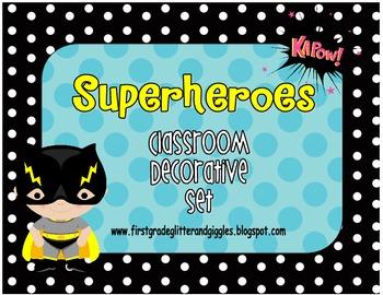 Superhero Classroom Decorative Set