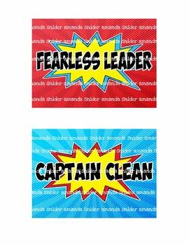 Classroom Theme Decor Superhero Classroom Jobs