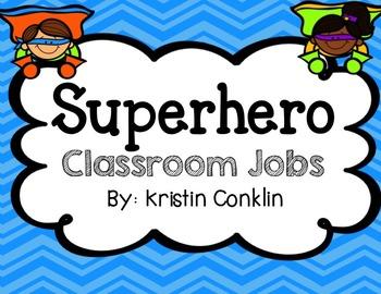 Superhero Classroom Jobs
