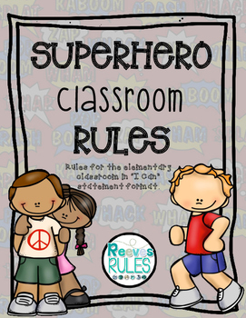 "Superhero Classroom Rules in ""I Can"" Statements"