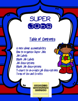 Classroom Jobs and Routines--Super Teacher Organization PLUS Management