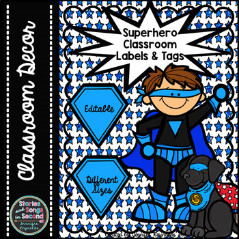 Superhero Classroom Labels & Binder Covers--Back-To-School Pack