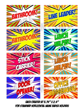 Superhero Classroom Name Tag for Classroom Management