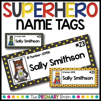 Superhero Classroom Name Tags - EDITABLE!