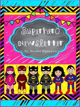 Superhero Classroom Newsletter (Editable)
