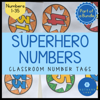 Superhero Classroom Numbers