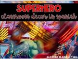 Superhero Classroom Pack in Spanish