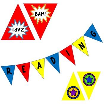 Superhero Classroom Pennant Banner Bundle!