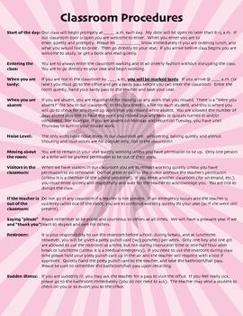 Superhero Classroom Procedures Printables/Handouts