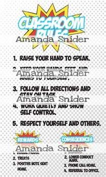 Classroom Theme Decor Superhero Classroom Rules