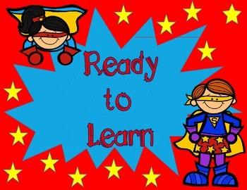 Superhero Classroom Rules & Behavior Clip Chart Set