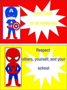 Superhero Classroom Rules - Editable