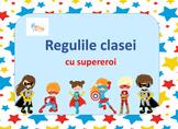 Superhero Classroom Rules in Romanian, Regulile Clasei cu