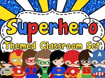Superhero Classroom Set {EDITABLE}