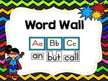 Superhero Classroom Signs