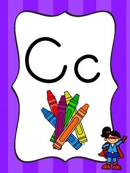 Superhero Classroom Theme - Alphabet Line