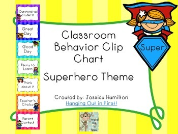 Superhero Classroom Theme - Behavior Clip Chart