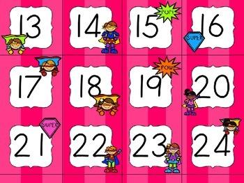 Superhero Classroom Theme - Calendar Set