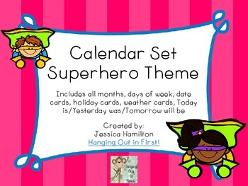 Superhero Classroom Theme - Calendar Set