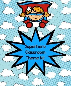Superhero Classroom Theme Kit