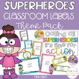 Superhero Classroom Theme Pack - Editable Name Tags, Labels and Posters