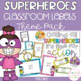 SUPERHERO Editable Name Tags, Labels, Posters & Door Display
