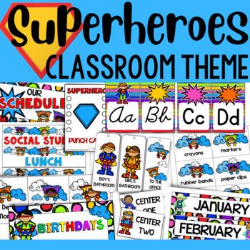 Superhero Theme: Classroom Decor and Organizational Pack