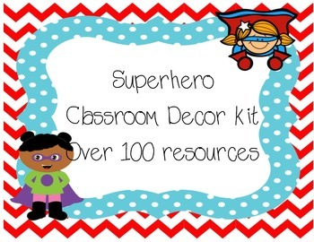 Superhero  Classroom decor kit