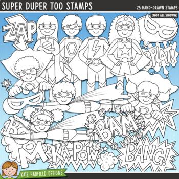 Superhero Clip Art Bundle