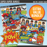 Superhero Clip Art Bundle
