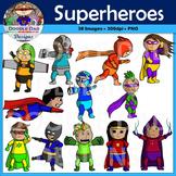 Superhero Clip Art (Flying, Cyborg, Angry, Running, Karate