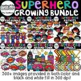 Superhero Clip Art Growing Bundle {Superhero Clip Art}